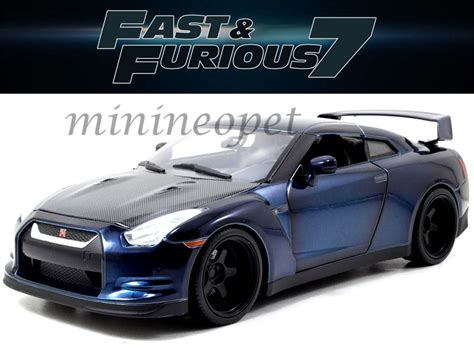 blue nissan skyline fast and furious jada 97035 fast and furious 7 brian s 2009 09 nissan