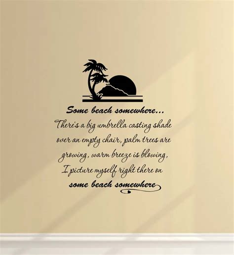 beach vinyl wall quotes quotesgram