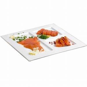 Assiette Plate Originale : assiette 3 compartiments plate carr e 29x29cm blanche en porcelaine faro cosy trendy ~ Teatrodelosmanantiales.com Idées de Décoration