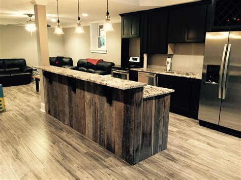 kitchen sink and countertop a customer in roswell used our reclaimed barn wood planks 5623