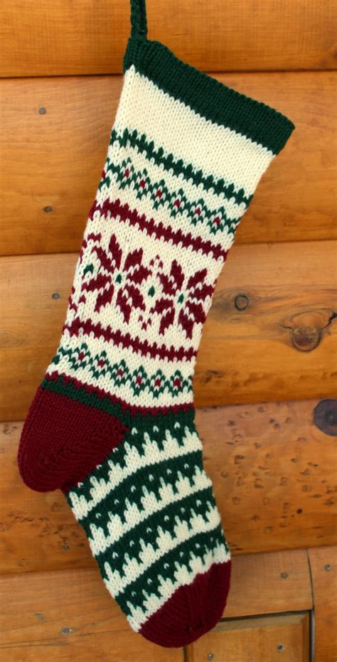 christmas stockings images  pinterest knitted