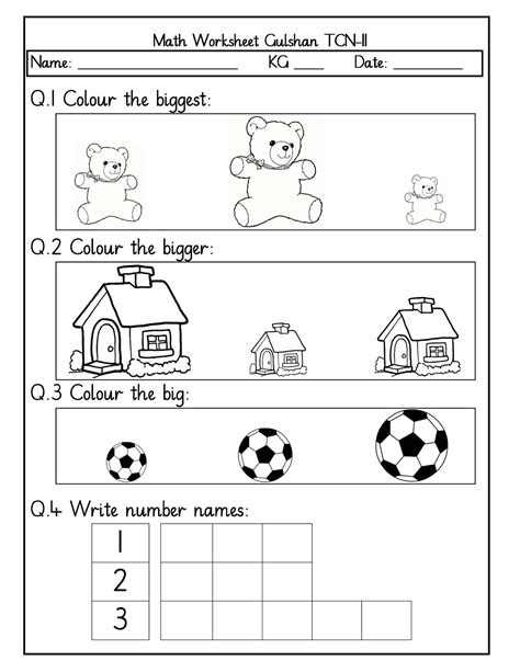math worksheet and nursery best free