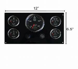 Perkins Engine 4 108  U0026 4 107 Instrument Panel W   5 Gauges