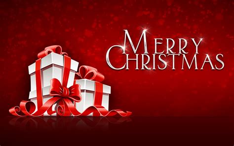 merry christmas gift  festival red background hd