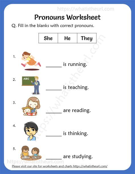 pronouns worksheets  grade  rel   home teacher