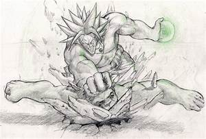 Broly vs Hulk by giammangiato on DeviantArt