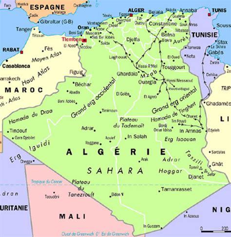 Carte Geographique Villes Algerie by Carte Alg 233 Rie Capital Carte Alg 233 Rie