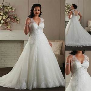 plus size wedding dresses 2016 cap sleeves a line white With plus size dresses with sleeves formal wedding