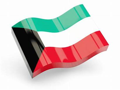 Kuwait Icon Flag Wave Glossy Non Commercial