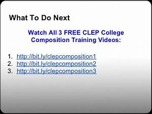 College Composition Clep Essay Prompts