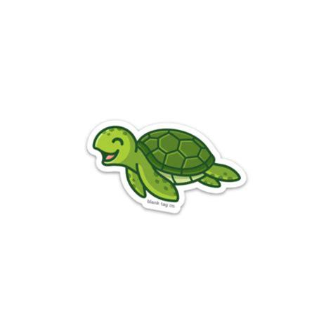 sea turtle sticker blank tag