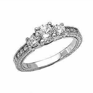art deco diamond 10k white gold engagement and proposal With propose ring and wedding ring
