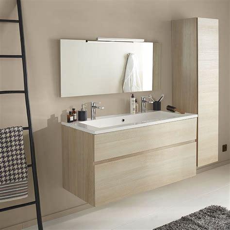 meuble de salle de bains d 233 cor ch 234 ne naturel 120 cm calao castorama salle de bain en 2019