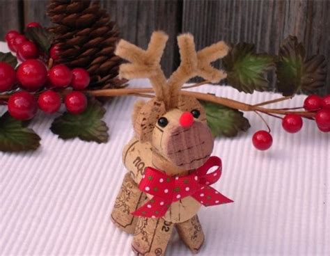 wine cork reindeer ideas the whoot