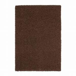 trendy tapis de salon shaggy marron 160x230 cm achat With tapis salon marron