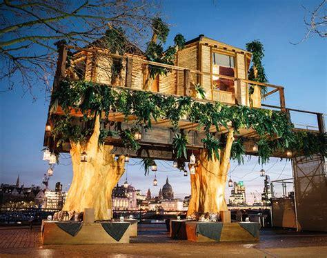 virgin holidays builds  foot luxury treehouse  london