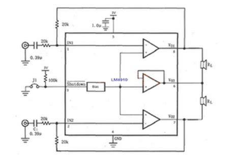 Low Voltage Stereo Headphone Amplifier Electronic Circuit