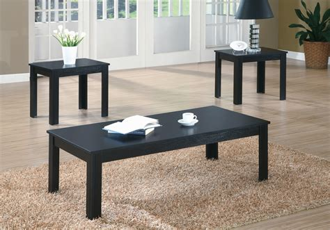 By matching the decor to the color of the coffee table, items stand out simply because the concept is interesting. I 7840P - BLACK 3PCS COFFEE TABLE SET BRAND NEW WINNIPEG FURNITURE STORE OCCASSIONAL