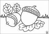 Coloring Printable Autumn Acorn Mms Academy Ag sketch template