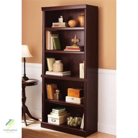 5 Shelf Storage Bookcase Home Furniture Bookshelf Office