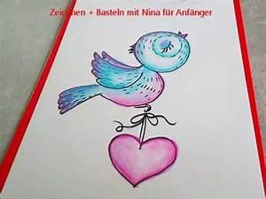 Bilder Zeichnen Für Anfänger : vogel mit herz zeichnen lernen malen f r anf nger und kinder youtube ~ Frokenaadalensverden.com Haus und Dekorationen