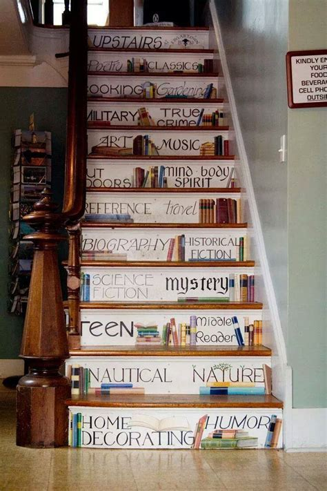 Painted Book Staircase   XciteFun.net
