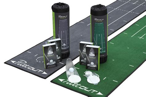 golf swing system puttout pressure putt trainer with deluxe putting mat