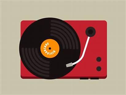 Record Player Vinyl Playing Tape Dribbble Bit
