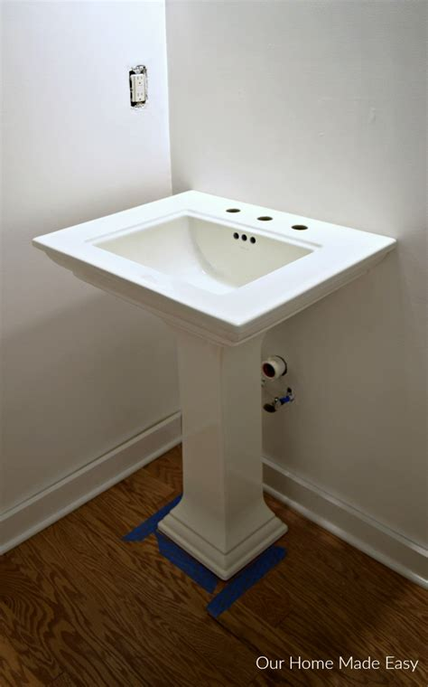 How Much Is A Pedestal Sink by How To Install A Pedestal Sink Orc Week 3 Our Home