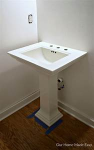 41 pedestal sink rough in how to replace a pedestal sink for How to rough plumb a bathroom sink