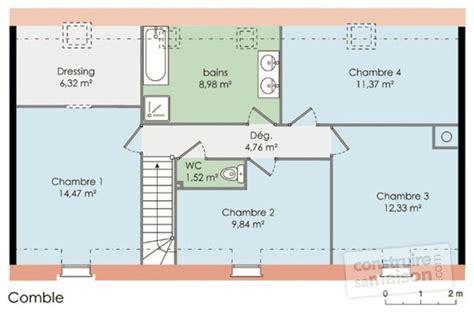 plan maison etage 4 chambres plan maison etage 4 chambres 1 bureau solutions pour la
