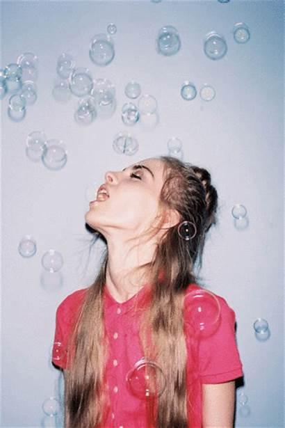 Hipster Pretty Bubbles Amazing Gorgeous Gifs Woman