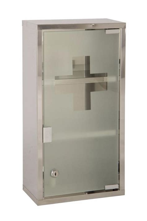 stainless steel wall mounted lockable medicine cabinet