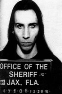 Marilyn Manson Mug Shot Vertical Photograph by Tony Rubino