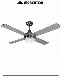 Mercator Ceiling Fan Installation Manual