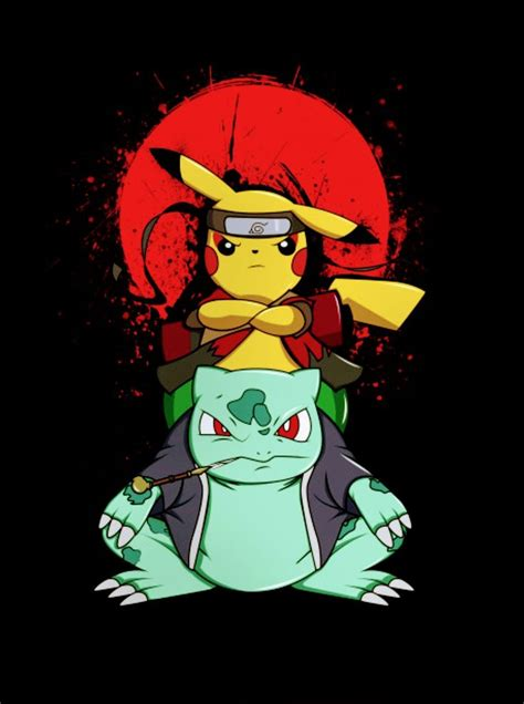 pikachu bulbasaur naruto pokemon animes wallpapers