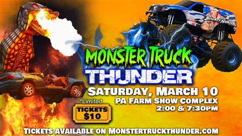 monster truck show ticket prices monster truck thunder harrisburg pa tickets in harrisburg