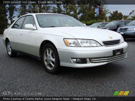 lexus sedan 2000 crystal white 2000 lexus es 300 sedan ivory interior