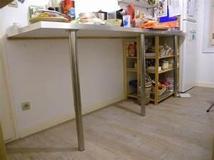 Meuble Plan De Travail : plan de travail cuisine avec pied wh01 jornalagora ~ Teatrodelosmanantiales.com Idées de Décoration