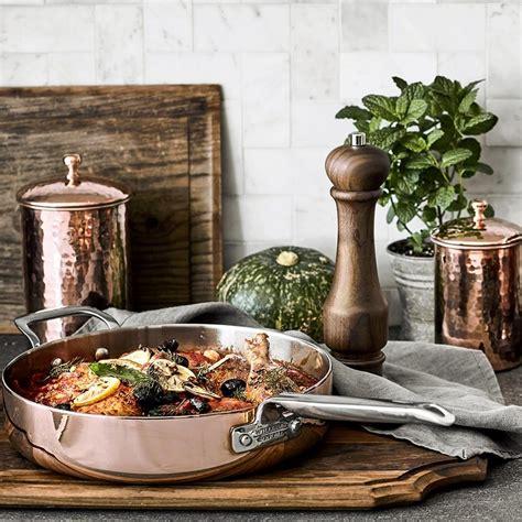 williams sonoma professional copper  piece cookware set