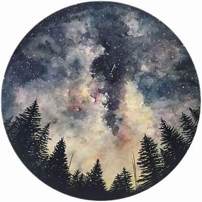 Circle Painting Sky Drawing Night Galaxy Watercolor
