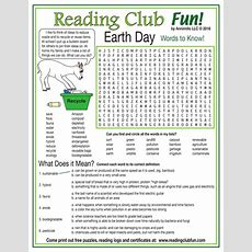 Environmentrelated Words To Know (earth Day) Word Search Puzzle By Puzzlefun Teaching