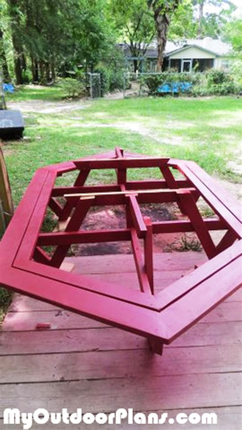 diy large picnic table myoutdoorplans  woodworking