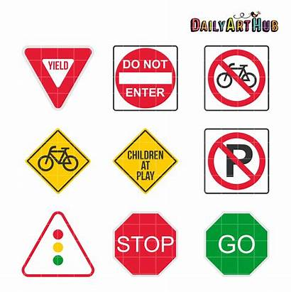 Signs Road Clipart Clip Daily Hub Station
