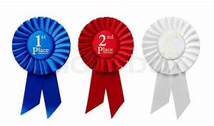1st, 2nd and 3rd Place pleated ribbon rosettes or badges ...
