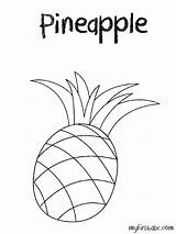 Pineapple Coloring Pages Printable Fruit Template Adults Clip Sketch Watermelon Popular Getcoloringpages Letter sketch template