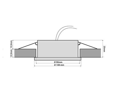RX 3 Alu LED Einbauleuchte Einbaustrahler flach GX53