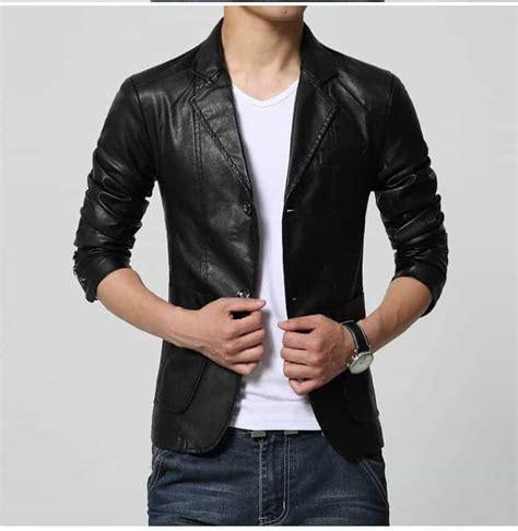 Jaket Jas Jas Modern Pria Hitam model jaket kulit pria terbaru 2019 casual formal klasik