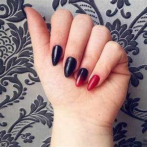 Black acrylic nail art designs ideas design trends
