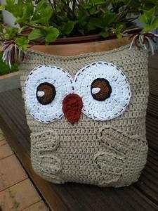 Free Crochet Pattern Owl Pillow Traitoro For